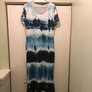 Tie dye maxi dress!!!